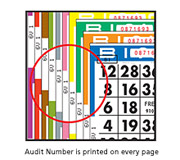 Audit Number is Printed on Every Page
