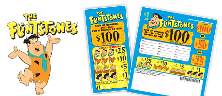 The Flintstones 5 Window Bingo Tickets